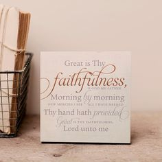 Lyrics for Life - Great Is Thy Faithfulness - Wall Art