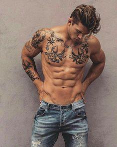 small tattoos for guys ~ small tattoos . small tattoos with meaning . small tattoos for men . small tattoos for women with meaning . small tattoos for women on wrist . small tattoos for men on arm . small tattoos for guys Tattoos For Guys Badass, Hot Guys Tattoos, Boy Tattoos, Body Art Tattoos, Sleeve Tattoos, Tribal Tattoos, Small Tattoos, Tatoos Men, Male Chest Tattoos