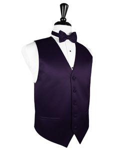 Amethyst Premier Satin Tuxedo Vest