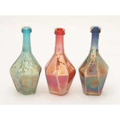 Glass Bottles Decorative Radiant Glass Bottle 3 Assortedyou Cannot Miss On This