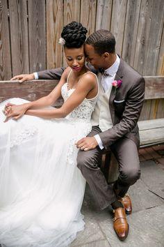 Gorgeous Berta wedding dress | Petronella Photography | see more on http://burnettsboards.com/2014/02/brooklyn-wedding-inspiration-vintage-details/