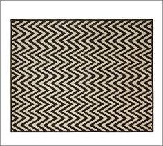 Hayden Zig Zag Rug - Black | Pottery Barn ($600- got it. great rug, looks expensive and wears well.)