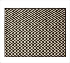 Hayden Zig Zag Rug - Black | Pottery Barn ($600- got it. great rug, looks expensive and wears well.)