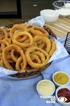 Onion Rings, I Love Food, Apple Pie, Empanadas, Vegetarian Recipes, Appetizers, Restaurant, Snacks, Cookies