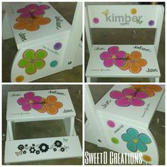 Redone step stool by SweetD Creations