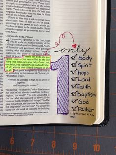 Ephesians 4:4-6 - Bible Journal Ideas