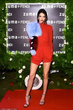 When in Rome:Kendall Jenner fashioned the red carpet into a runway as she stepped out in Rome, Italy, on Thursday evening