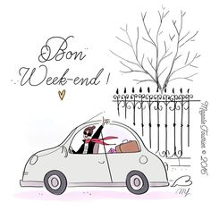 Every Friday of mer life Bon Weekend, Hello Weekend, Happy Weekend, Bon Week End Image, Buch Design, Weekend Quotes, Arte Floral, Cute Illustration, Cute Drawings