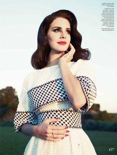 Lana Del Rey for Fashion Magazine Summer 2013, shot by Mark Williams and Sara Hirakawa