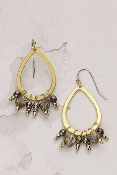 Anthropologie EU Delicate Bead Hoop Earrings