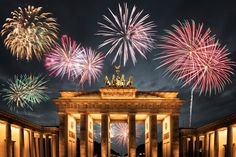 Fireworks above Berlin's Brandenburg Gate, Germany | 6 of the Best Cities to Celebrate New Year's Eve in Europe