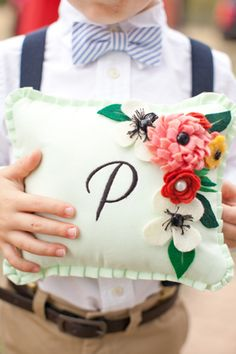 ring bearer pillow | Kelly Hornberger