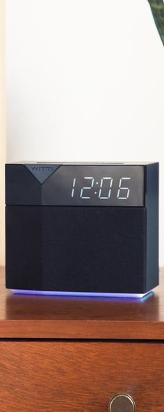 Drift off to white noise and wake up with gradual light, your favorite song, or a traffic report with WITTI's smart alarm clock, discovered by The Grommet