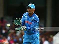 MS Dhoni of India during the ICC Champions Trophy match Group B between India and Sri Lanka at The Oval in London on June 08, 2017