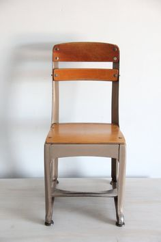vintage school chair / mid century childs chair by wretchedshekels, $34.00