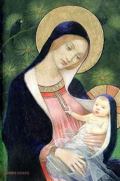 Madonna Of The Fir Tree, Marianne Stokes (1855 – 1927, Austrian-born English) I AM A CHILD---