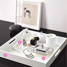 Vanity table oranization