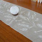 Linen Table Runner - Hand Screen Printed