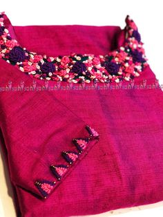 WhatsApp 9035330901 for customized hand embroidery material i Embroidery Suits Punjabi, Embroidery On Kurtis, Kurti Embroidery Design, Embroidery Neck Designs, Embroidery Dress, Salwar Neck Designs, Churidar Designs, Dress Neck Designs, Saree Blouse Designs