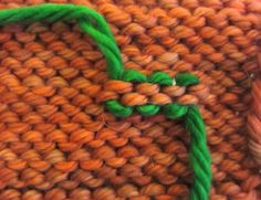 What a great explanation of how to properly weave in those ends!