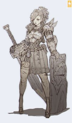 Knight Girl, Paul Kwon on ArtStation at http://www.artstation.com/artwork/knight-girl