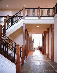 My dream is to mix stained wood, painted wood, wrought iron, tile & wood floors.  Nice to know Im not the only one with th...