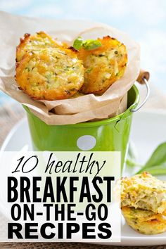 If you need breakfast ideas that are quick, easy, and healthy, and that can be eaten from the comfort of your car, you'll love this collection of breakfast-on-the-go ideas for busy moms! #breakfast