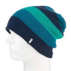 Unisex pletená čepice Nugget Region v pruhovaném designu. U dolního lemu je malá nášivka značky 100 % zboží skladem!