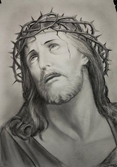 Jesus drawing custom jesus christ charcoal portrait christian art baptism gift picture of Jesus Christ Drawing, Jesus Drawings, Jesus Art, Tattoo Drawings, Jesus Tattoo, Christ Tattoo, Charcoal Portraits, Portraits From Photos, Baptism Gifts