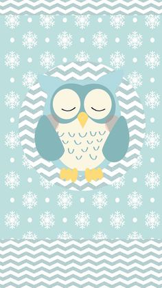 Phone Background Wallpaper, Owl Wallpaper, New Year Wallpaper, Winter Wallpaper, Wallpaper Backgrounds, Iphone Wallpaper, Owl Clip Art, Owl Art, Turquoise Art