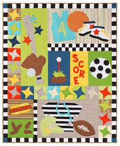 All-Star Child's Quilt pattern $29.95 through local consultants - search on My Lazy Daisy at http://mylazydaisy.blogspot.com/2013/07/a-quilt-for-your-all-star.html