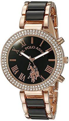 b7ae67ea476 U.S. Polo Assn. Women s USC40090 Rose Gold-Tone Dress Watch  Watch