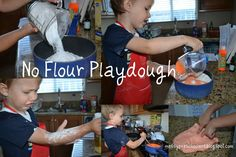 Messy Kids: No Flour Playdough