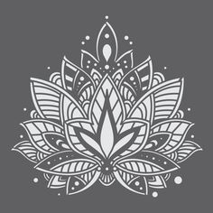 Mandala Tattoo Design, Dotwork Tattoo Mandala, Tatoo Henna, Lotus Mandala Design, Lotus Flower Mandala, Geometric Mandala, Lotus Design, Lotus Tattoo, Mandala Doodle