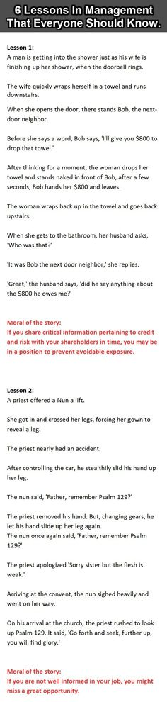 6 Lessons in Management That Everyone Should Know ~ fun stuff & laughter ~ so funny!
