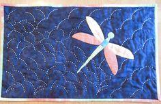 Wendy Freund Summerfield My first sashiko project.  Class piece from MPQ class. Pattern by Alderspring Design.