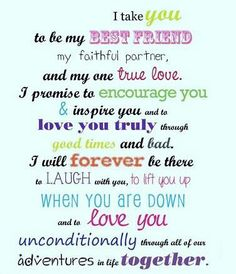I take you to be my best friend .... #husband #love #quotes #ilovemyhusband