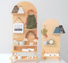 TOWER — Vertical Ledge Scallop Top, Market Displays, Baltic Birch Plywood, Doll Stands, Display Shelves, Adjustable Shelving, A Table, Toddler Bed, Tower