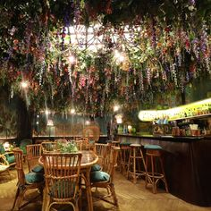 Four leading florists have created installations that transform areas of London restaurant Sketch into blooming gardens or woodland glades, to coincide with this week's #ChelseaFlowerShow