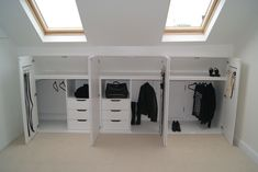 Bedroom Storage Ideas For Clothes, Bedroom Storage For Small Rooms, Attic Bedroom Designs, Attic Rooms, Attic Renovation, Attic Remodel, Loft Room, Bedroom Loft, Diy Bedroom