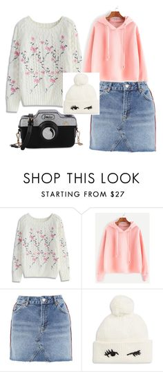 """Annie rose"" by mhodder212 ❤ liked on Polyvore featuring Chicwish, Topshop and Kate Spade"