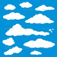 Cloud Blue Sky Vector — Vector EPS #sunny #cloud • Available here → https://graphicriver.net/item/cloud-blue-sky-vector/135568?ref=pxcr