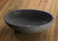 Megabad Bluestone Naturstein-Handwaschbecken oval 50 cm - MEGABAD