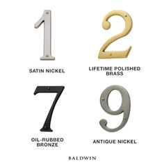 Did you know that Baldwin also offers house numbers in our wide variety of finishes?  What finish would you select for your home?