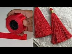 make perfect tassel using ribbon. #tasselmaking #jewellarymakimg #DIY #Knottystitches
