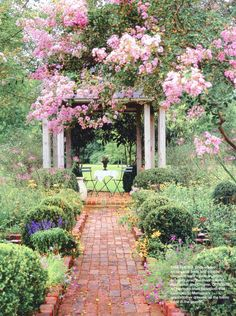 awwwwwwesome setting!!!!! looooooove also old bricks used to form garden paths and borders for the plants!!!!!!!!!!