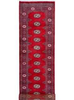 "Red Oriental Bokhara Runner 2' 7"" x 11' 9"" (ft) - No. 11949  http://alrug.com/bokhara-rugs/red-oriental-bokhara-runner-2-7-x-11-9-ft-no-11949.html"