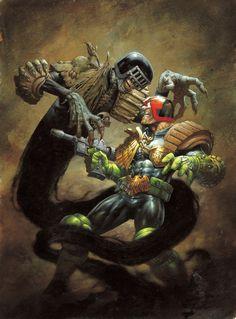 Dredd vs Death by Greg Staples Follow The Best Comics Artwork Blog on Tumblr