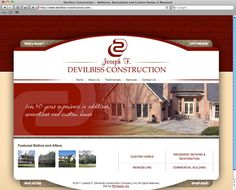 Devilbiss Construction Website (HTML, CSS) - www.devilbiss-construction.com