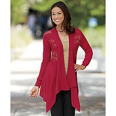 Polite To Pointelle Cardigan from Seventh Avenue